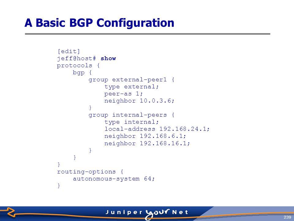 A Basic BGP Configuration