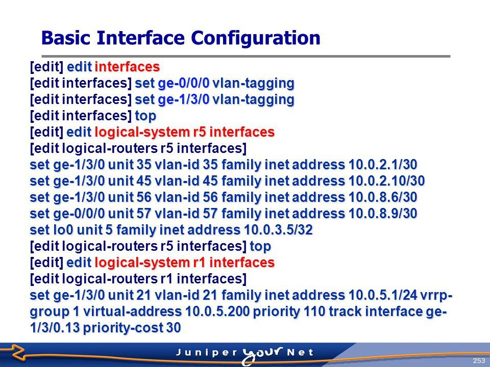 Basic Interface Configuration