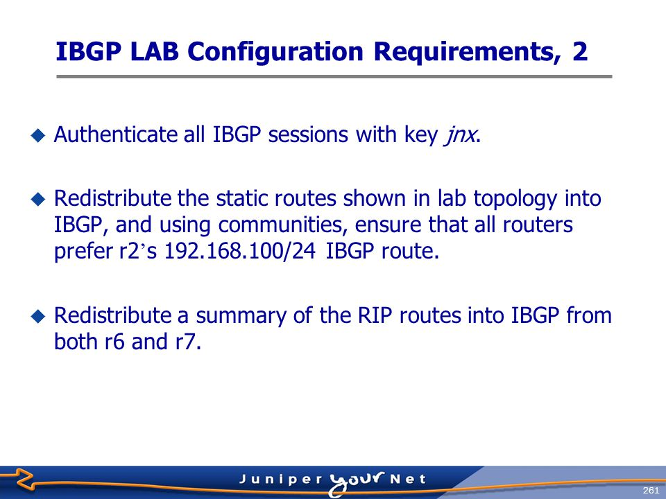 IBGP LAB Configuration Requirements, 2