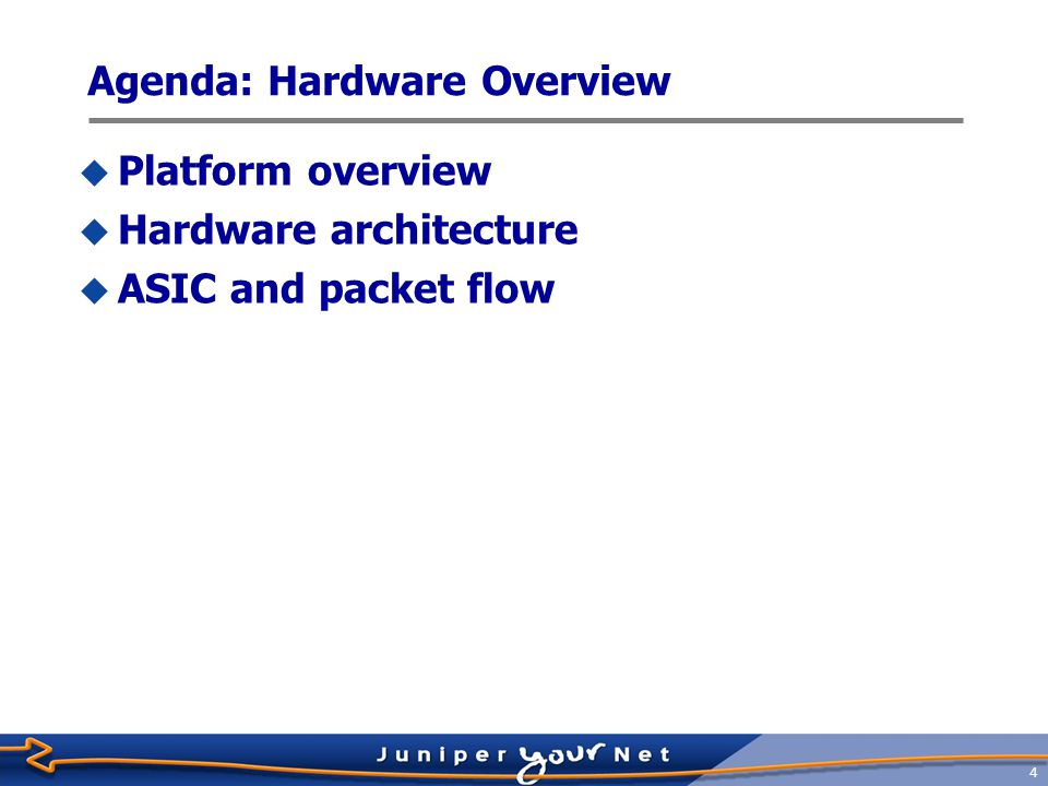 Agenda: Hardware Overview
