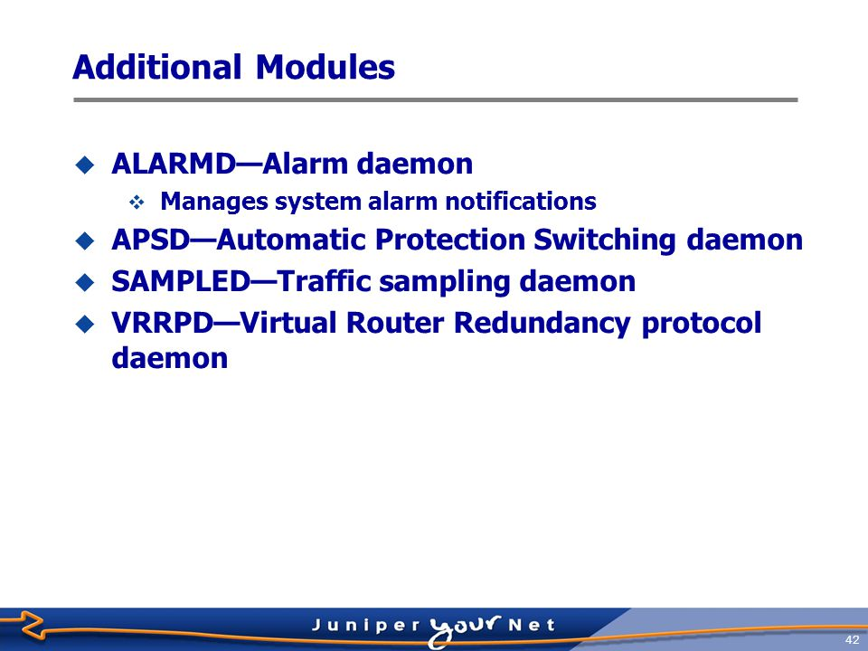 Additional Modules ALARMD—Alarm daemon