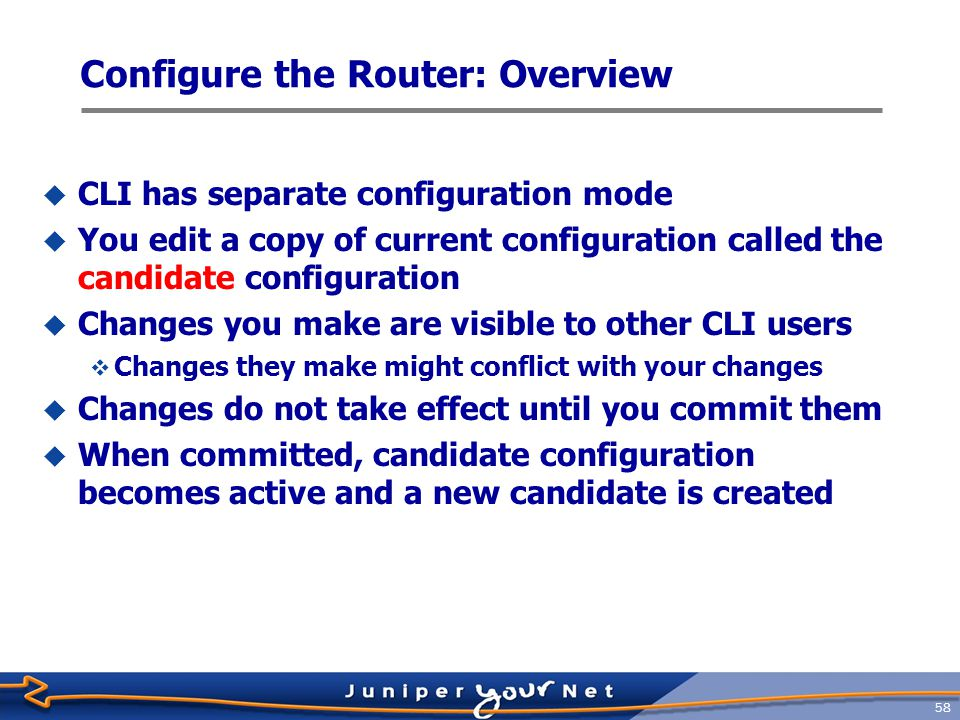 Configure the Router: Overview