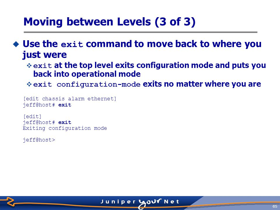 Moving between Levels (3 of 3)