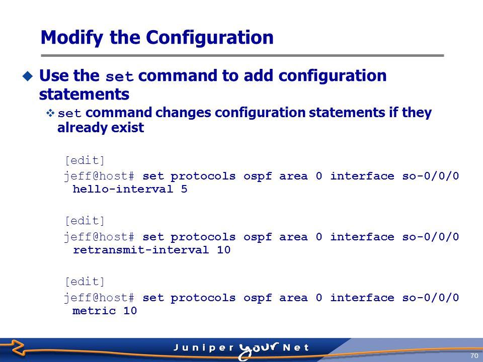 Modify the Configuration