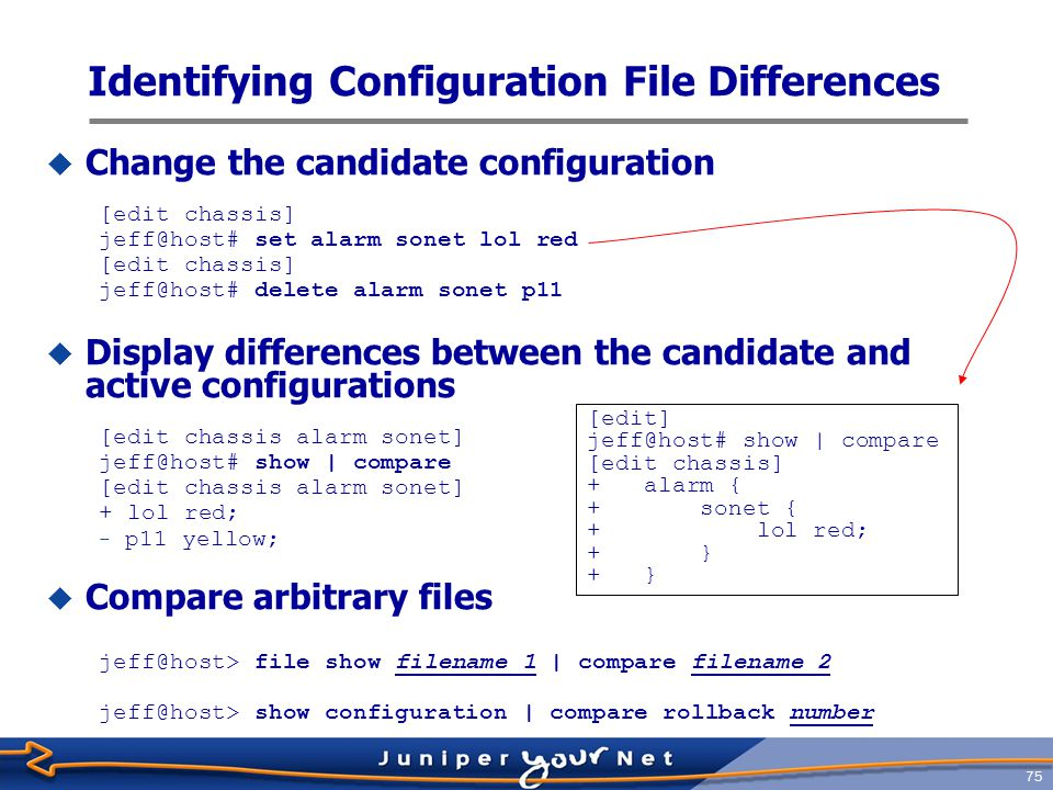 Identifying Configuration File Differences