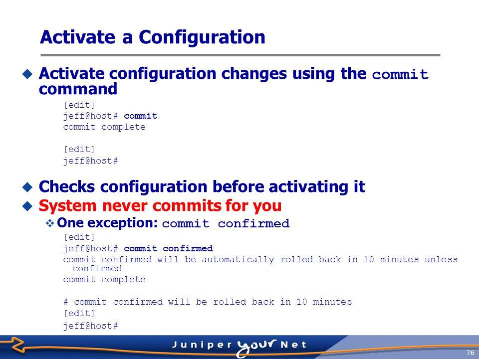 Activate a Configuration