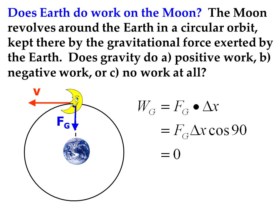 Does Earth do work on the Moon