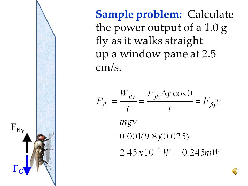 Sample problem: Calculate the power output of a 1