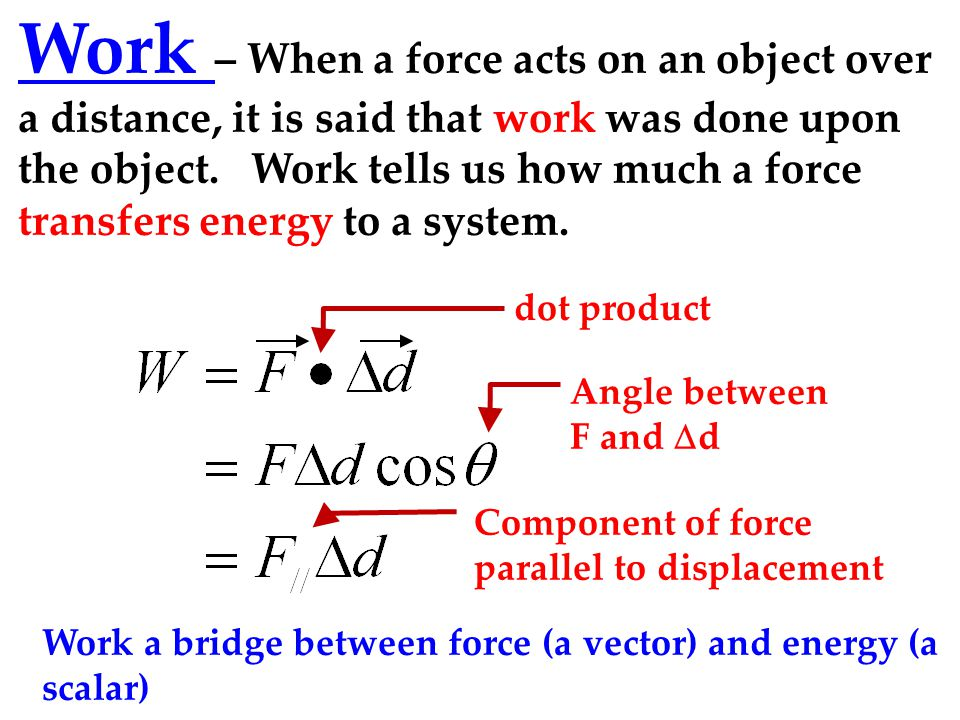 how to find force with work and distance