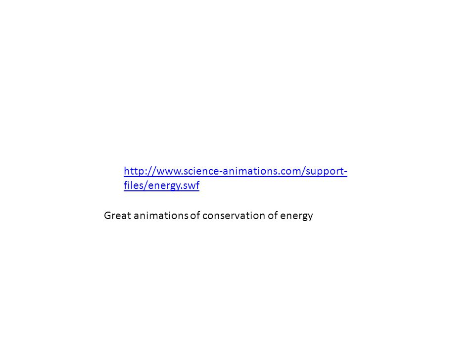 http://www.science-animations.com/support-files/energy.swf Great animations of conservation of energy.