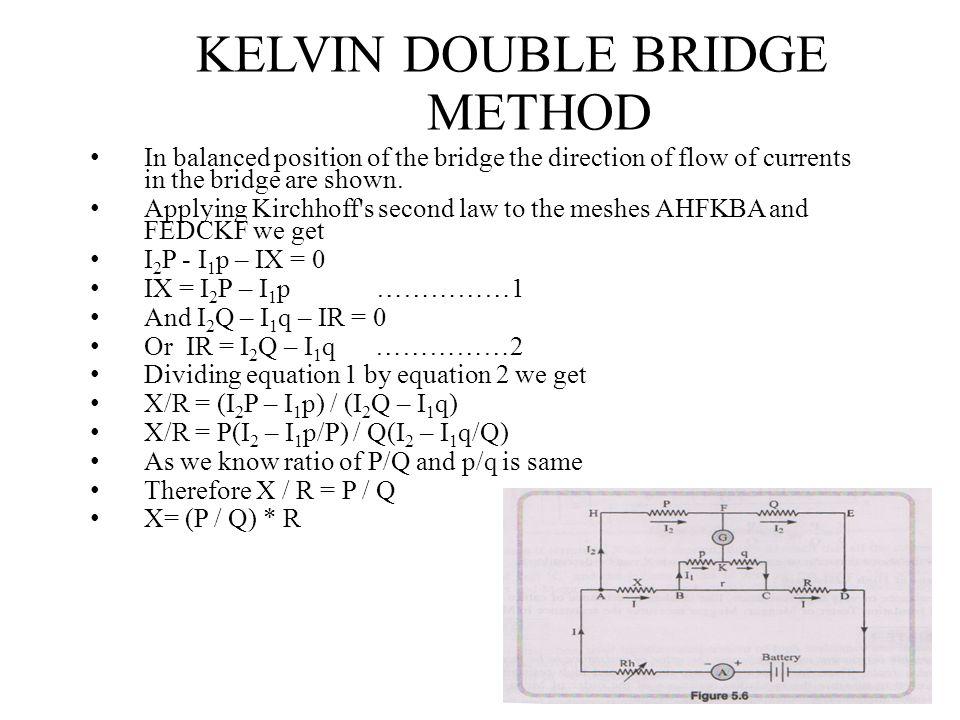 KELVIN DOUBLE BRIDGE METHOD
