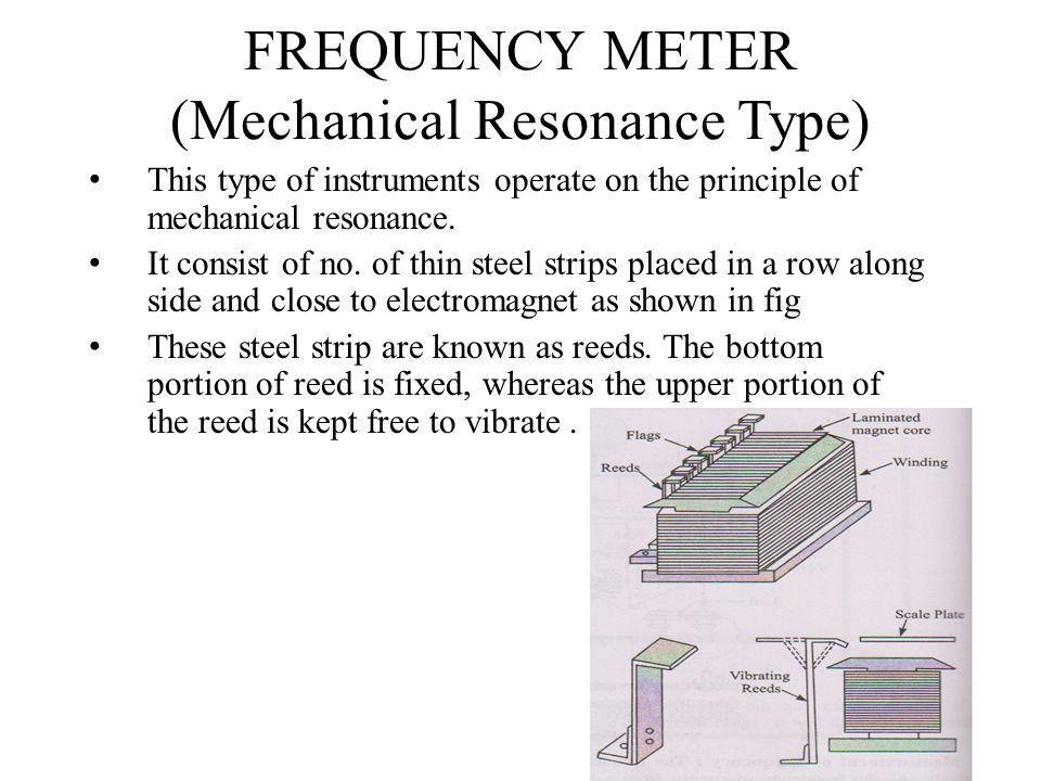 FREQUENCY METER (Mechanical Resonance Type)