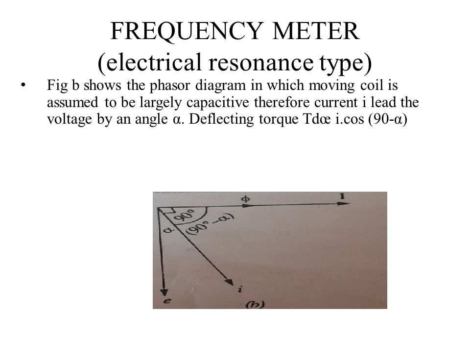 FREQUENCY METER (electrical resonance type)