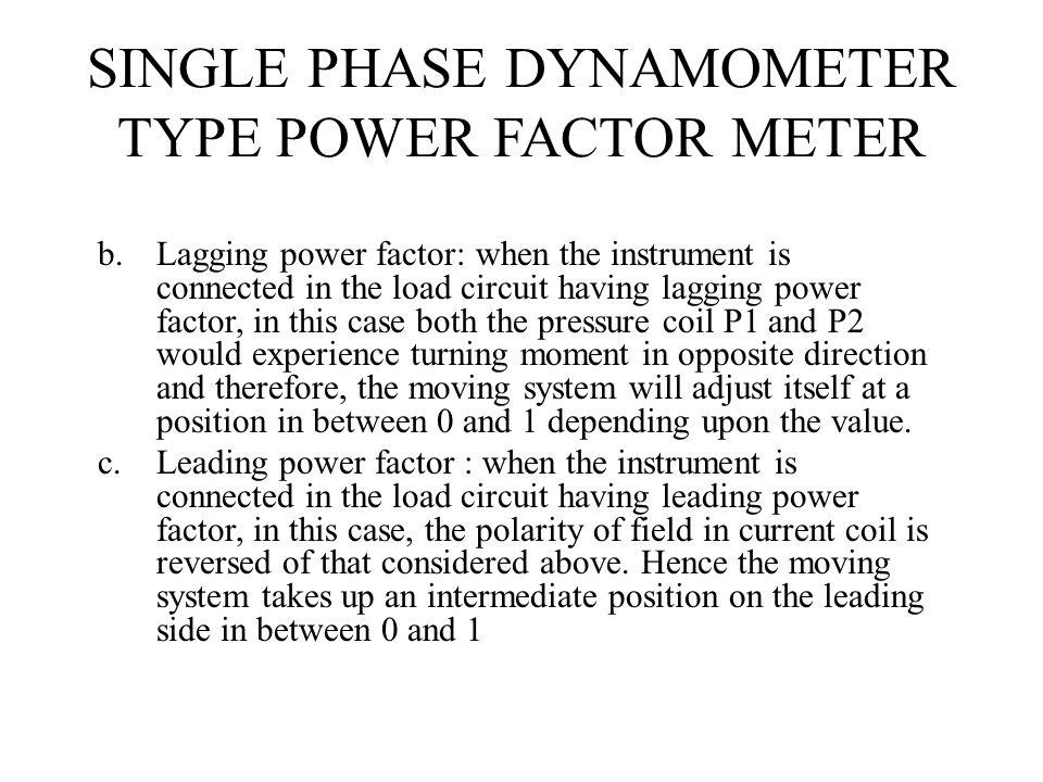 SINGLE PHASE DYNAMOMETER TYPE POWER FACTOR METER