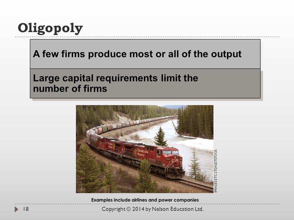 Oligopoly Copyright © 2014 by Nelson Education Ltd.
