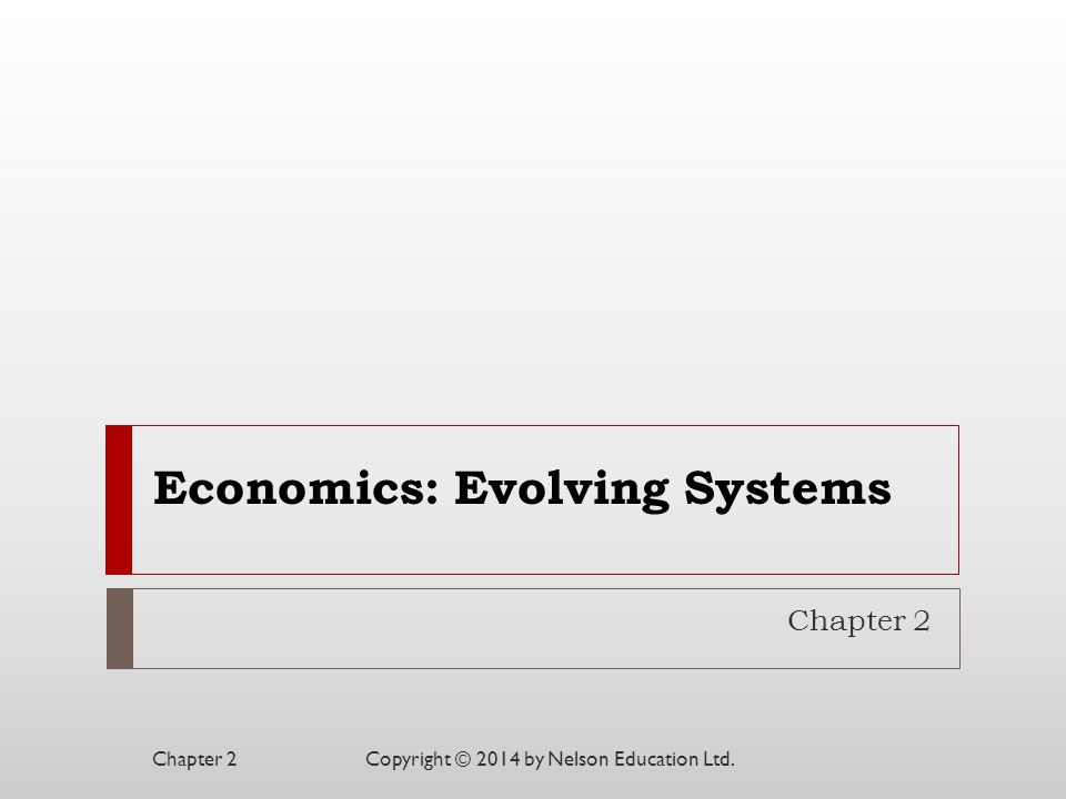 Economics: Evolving Systems