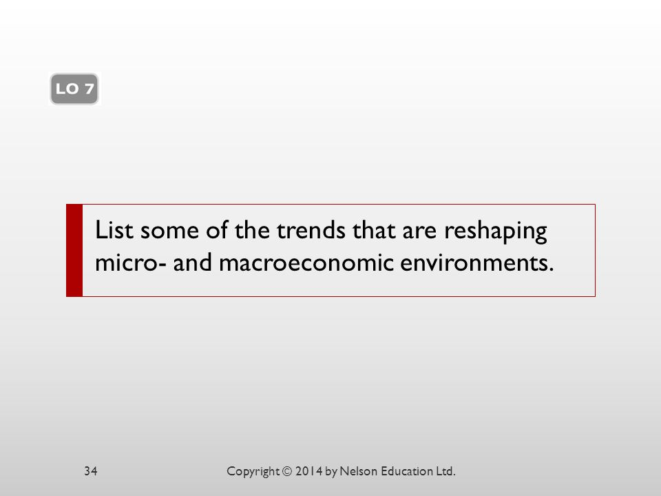 List some of the trends that are reshaping micro- and macroeconomic environments.