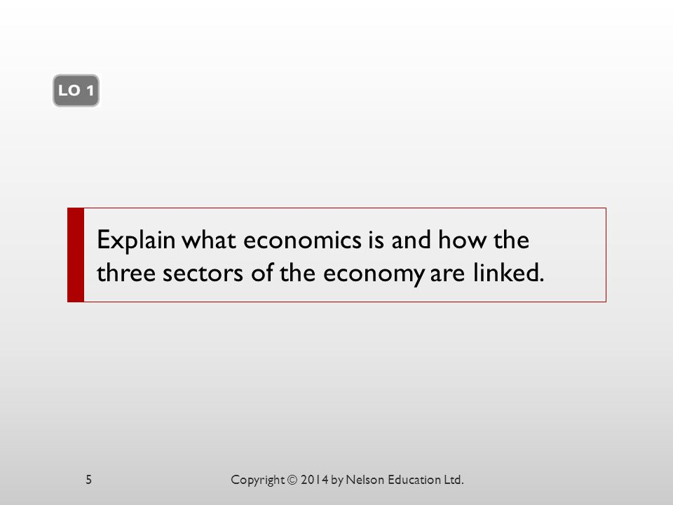 Explain what economics is and how the three sectors of the economy are linked.