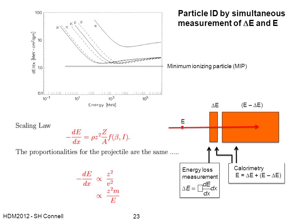 Particle ID by simultaneous measurement of DE and E