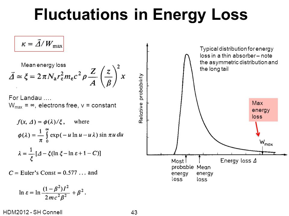Fluctuations in Energy Loss