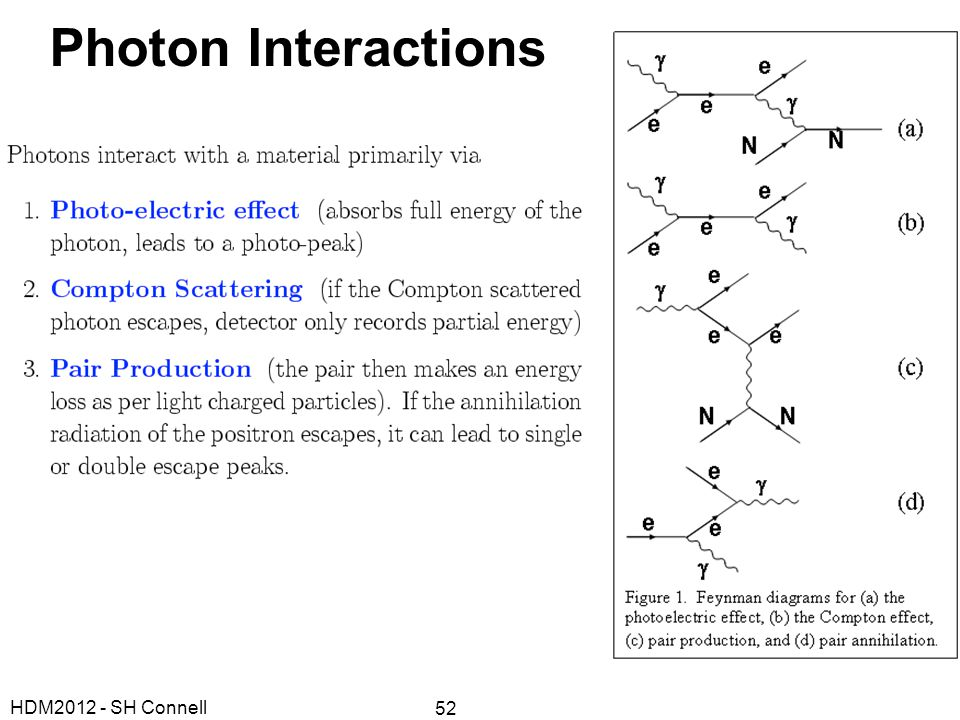 Photon Interactions HDM2012 - SH Connell