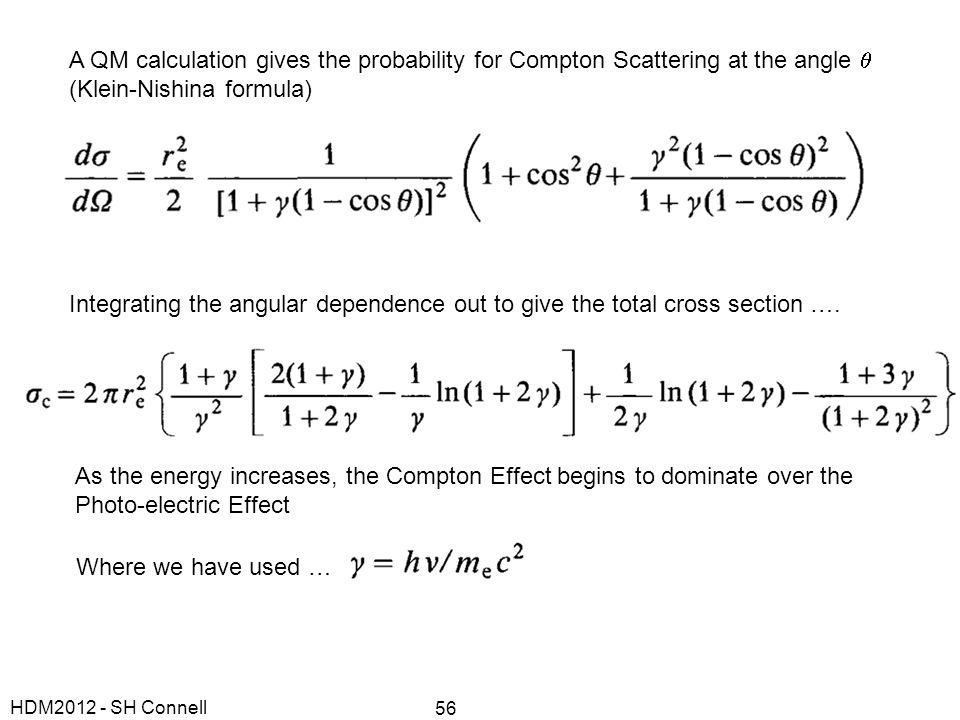 (Klein-Nishina formula)