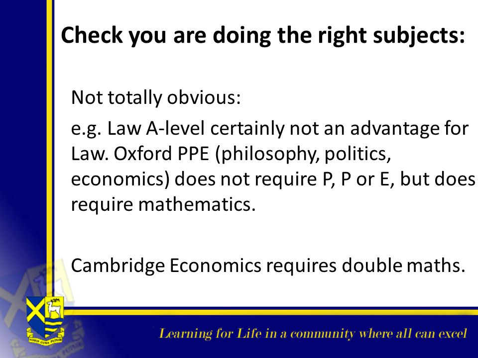 Check you are doing the right subjects: