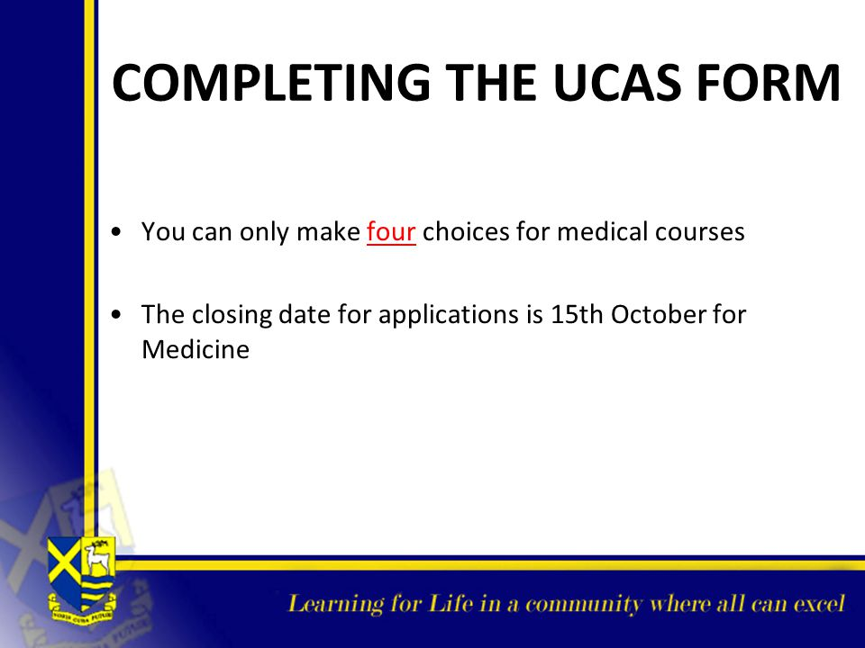 COMPLETING THE UCAS FORM
