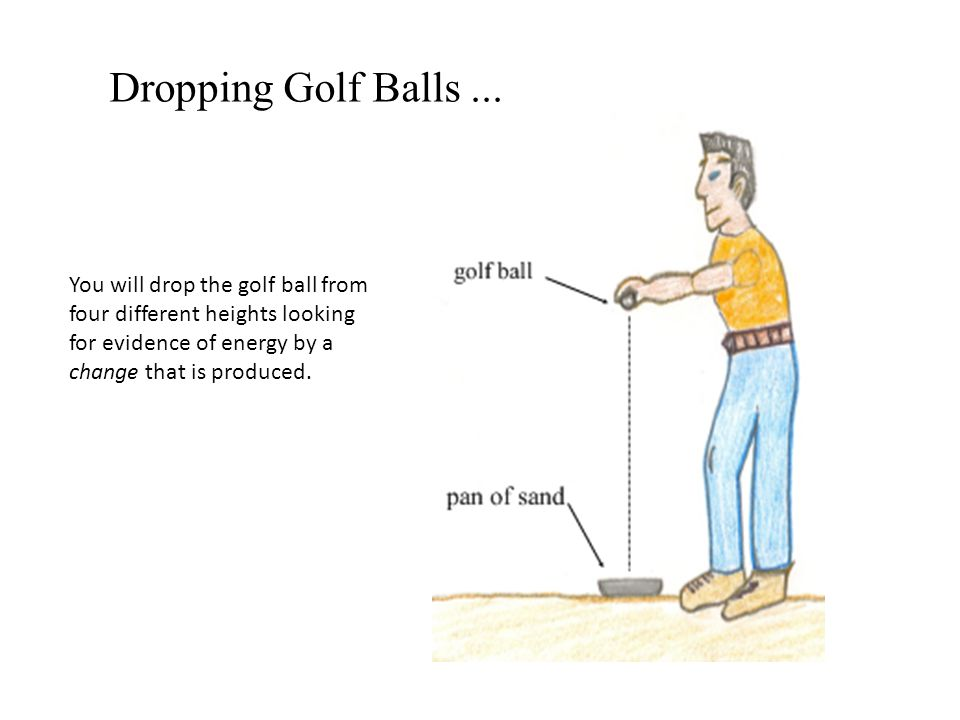 Dropping Golf Balls ...