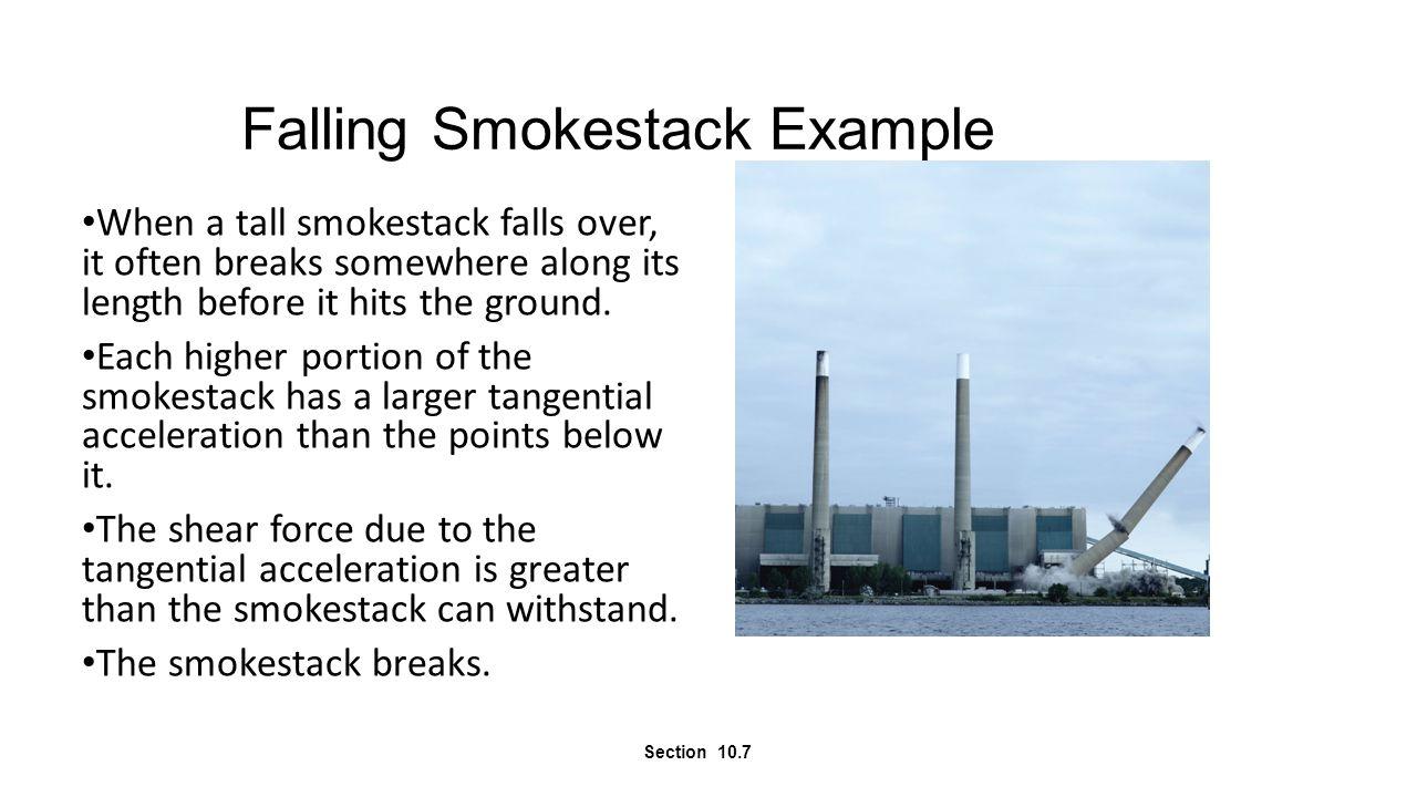Falling Smokestack Example