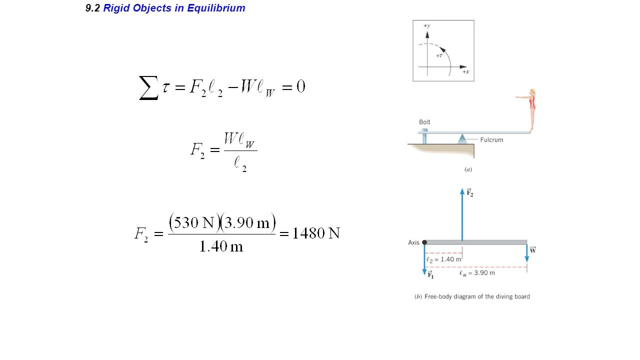9.2 Rigid Objects in Equilibrium