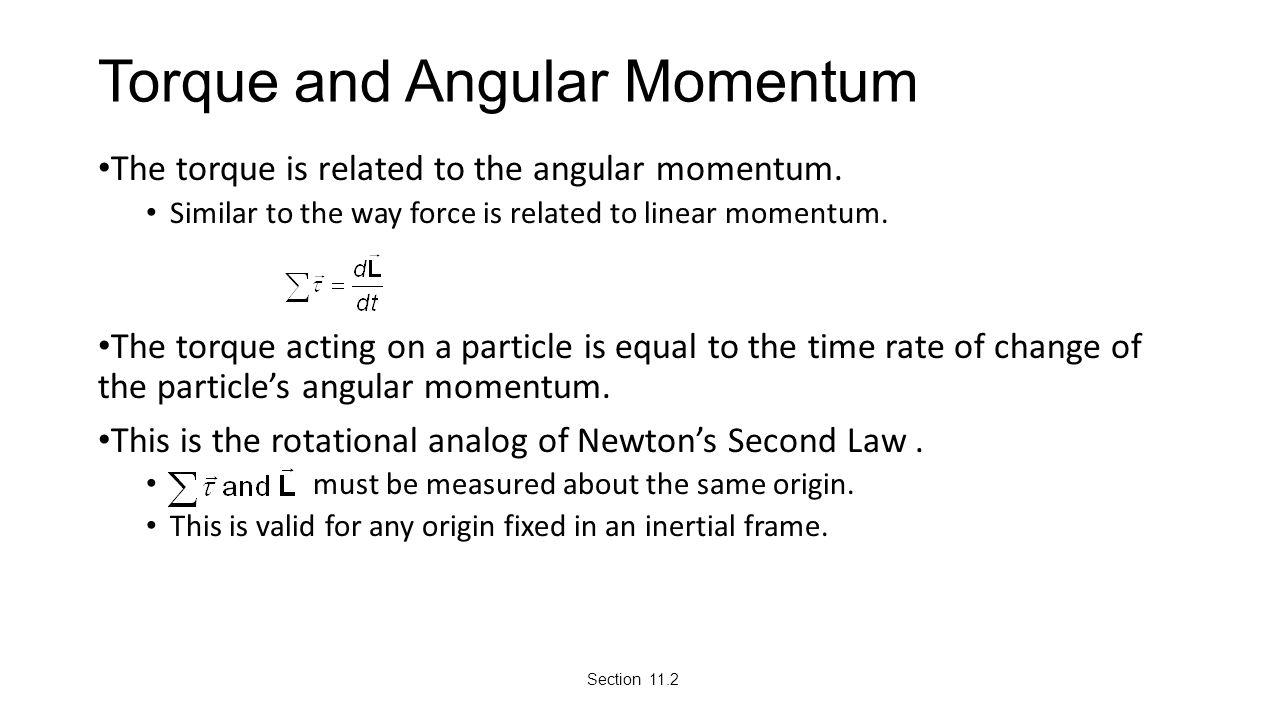 Torque and Angular Momentum