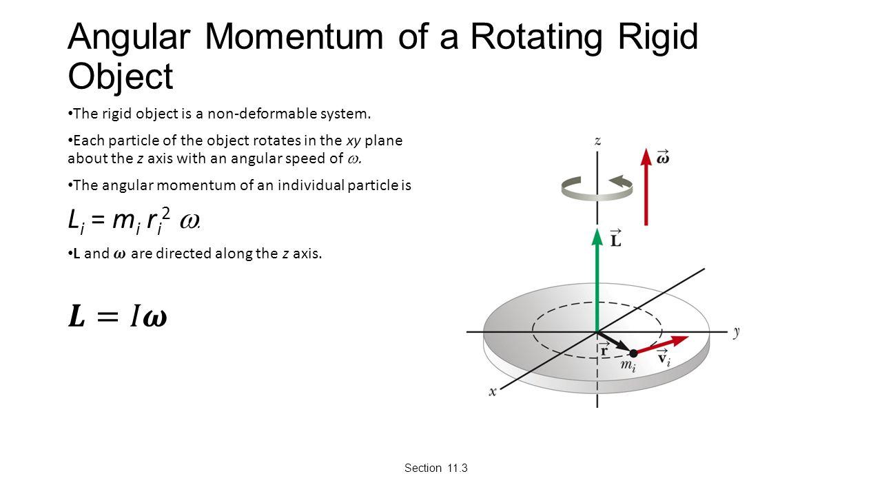 Angular Momentum of a Rotating Rigid Object