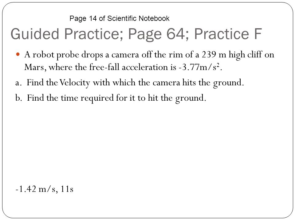 Guided Practice; Page 64; Practice F