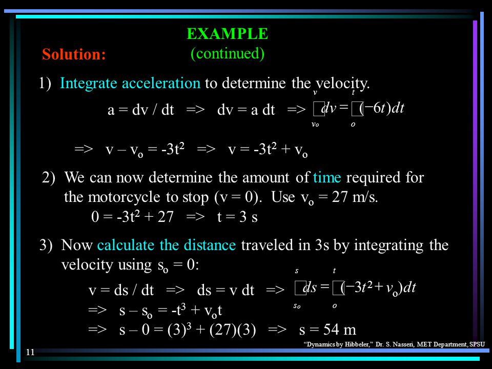 Dynamics by Hibbeler, Dr. S. Nasseri, MET Department, SPSU