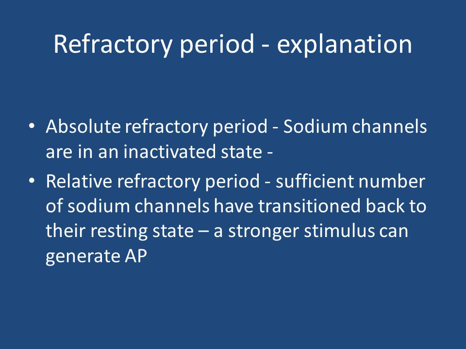 Refractory period - explanation
