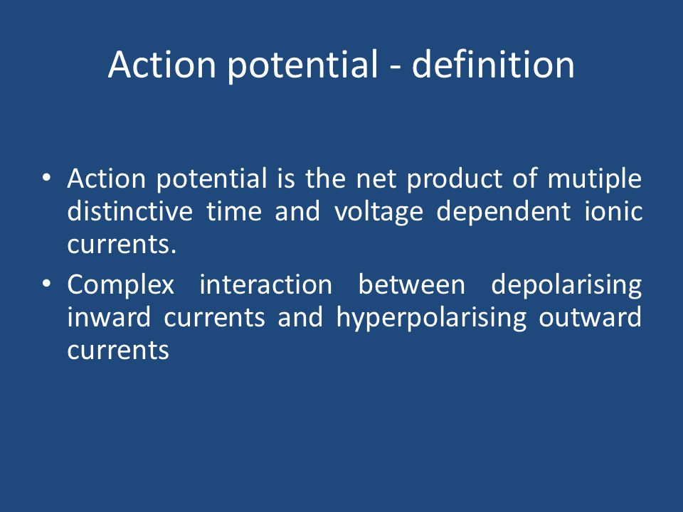 Action potential - definition