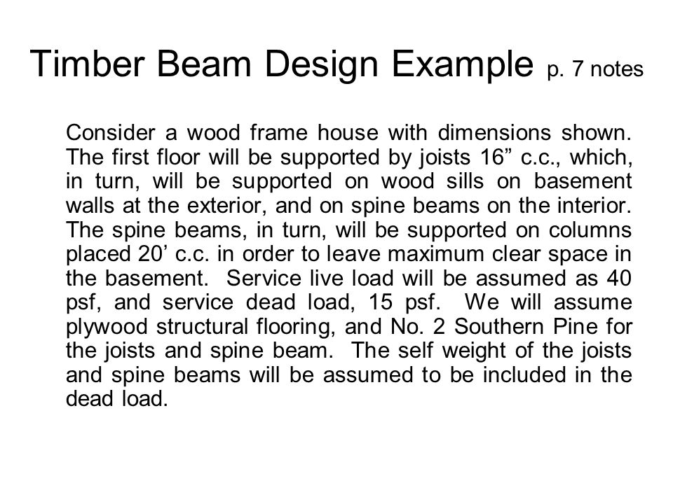 Timber Beam Design Example p. 7 notes