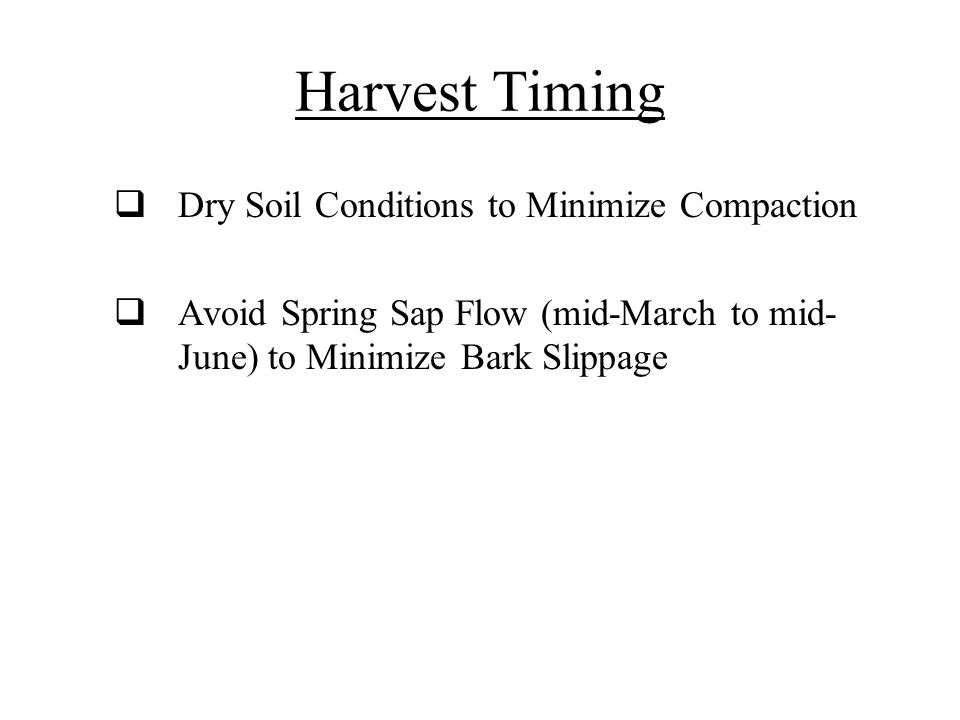 Harvest Timing Dry Soil Conditions to Minimize Compaction