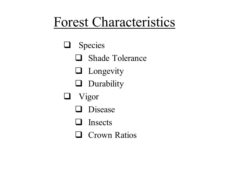 Forest Characteristics