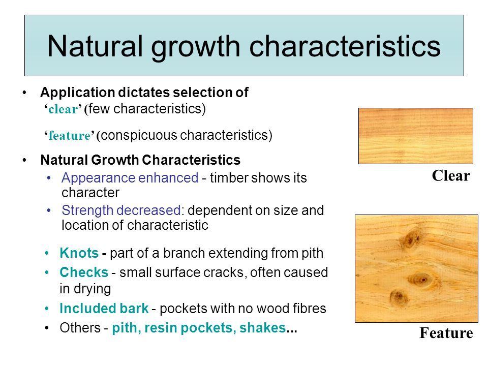 Natural growth characteristics