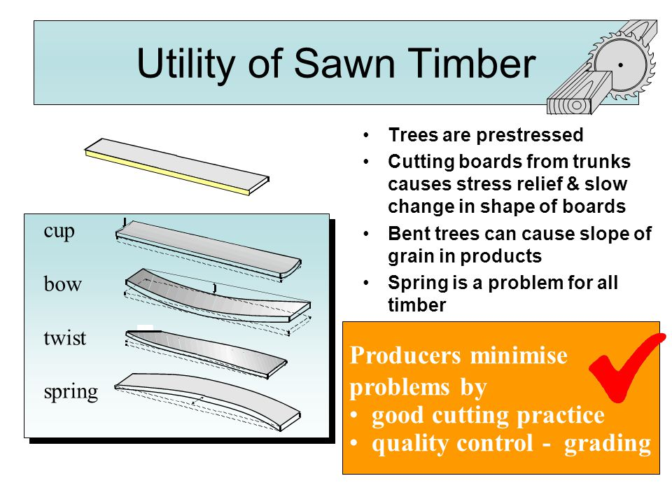 Utility of Sawn Timber Producers minimise problems by