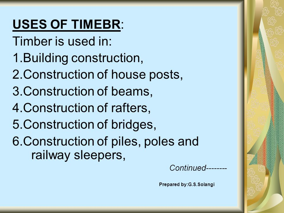 1.Building construction, 2.Construction of house posts,