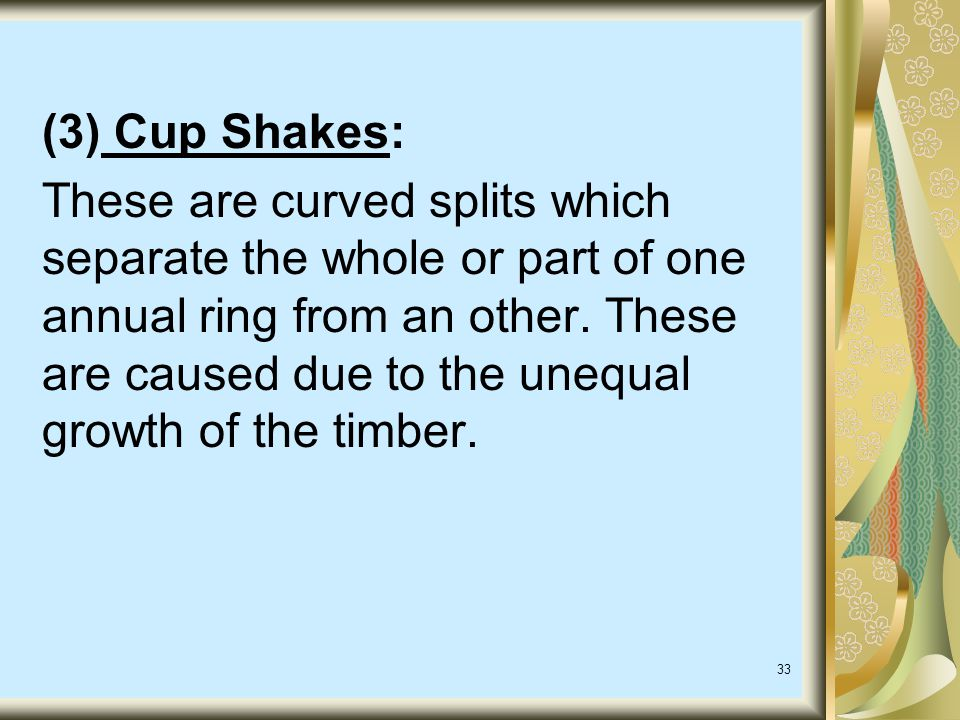 (3) Cup Shakes: