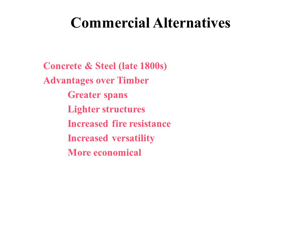 Commercial Alternatives