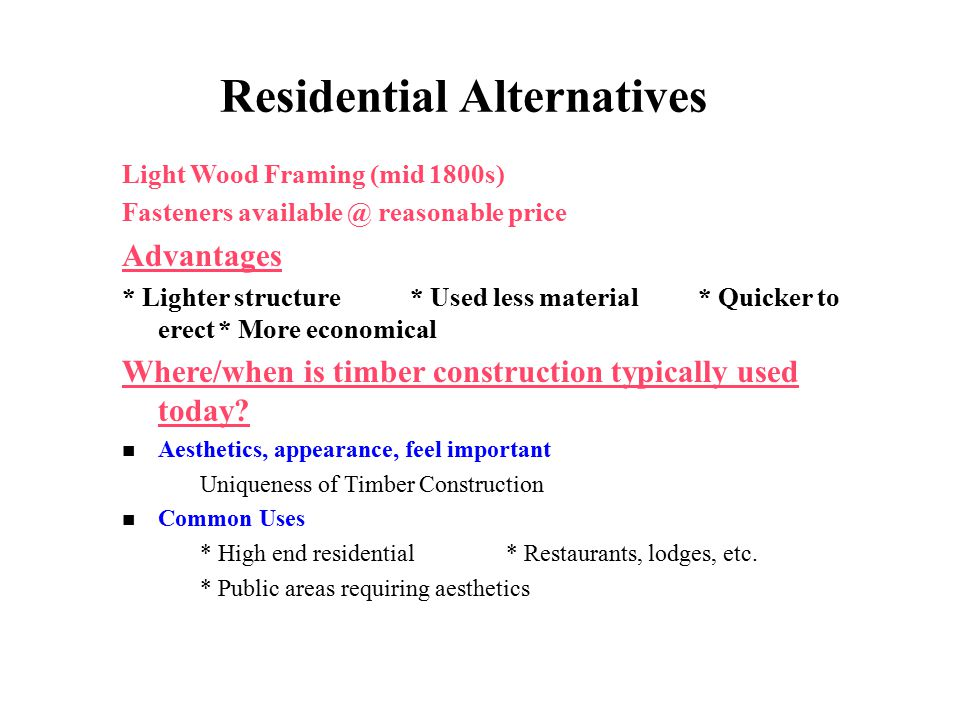 Residential Alternatives