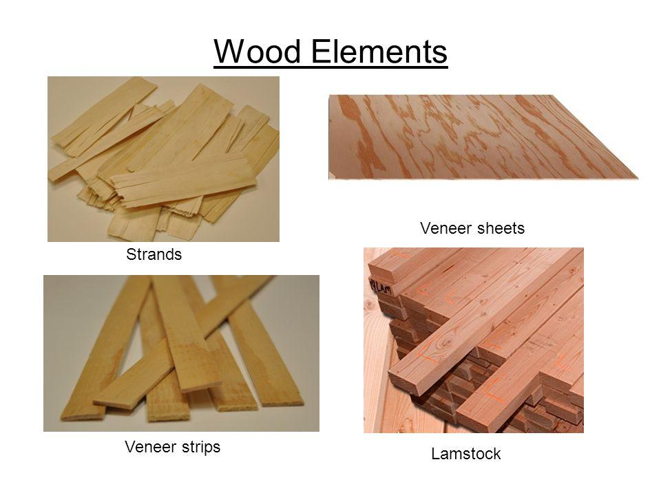 Wood Elements Veneer sheets Strands Veneer strips Lamstock