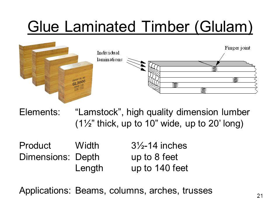 Glue Laminated Timber (Glulam)