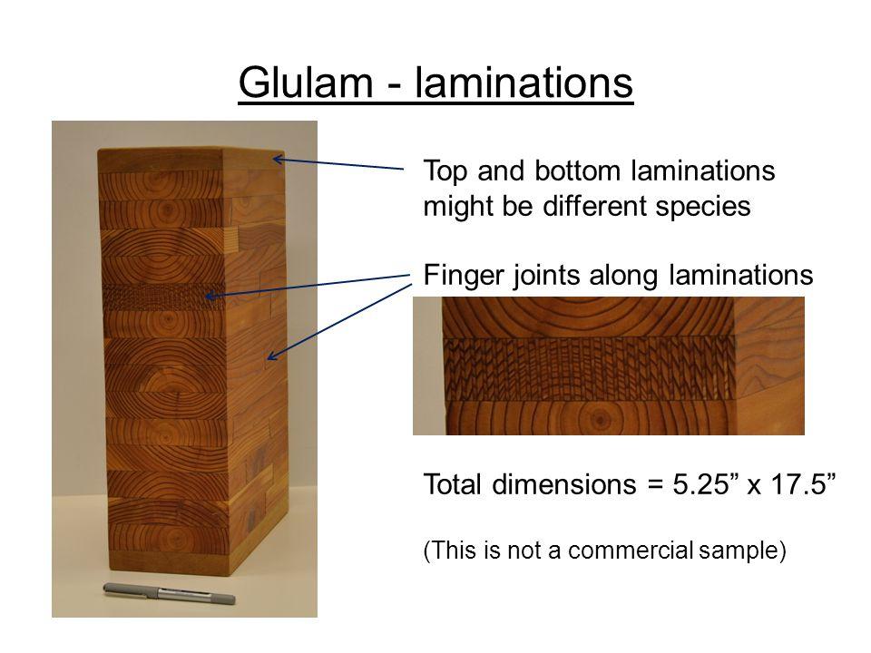 Glulam - laminations