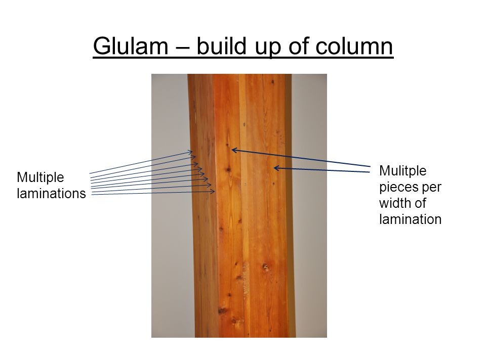 Glulam – build up of column